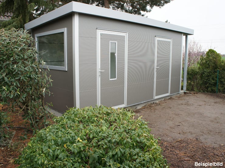 Go iso hochwertiges gartenhaus isoliert 5 00 x 2 50 m von trapezblech gonschior ohg homify - Gartenhaus isoliert ...