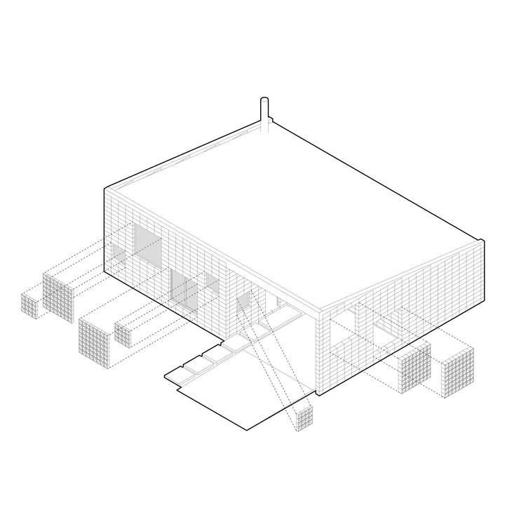 Casa DN:  de estilo  por Estudio Enlace