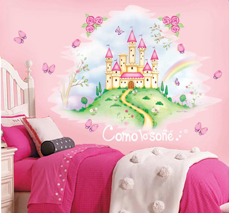 Mural Castillo: Dormitorios infantiles  de estilo  por Como lo soñé...,