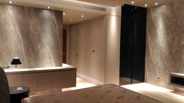 主臥室:  臥室 by 勻境設計 Unispace Designs