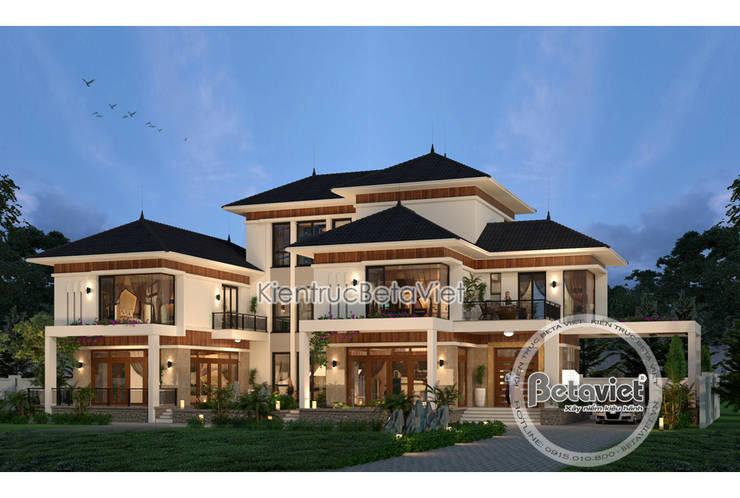 Phối cảnh mẫu biệt thự đẹp 3 tầng hiện đại hoành tráng phong cách châu Âu (CĐT: Ông Thắng - Thái Nguyên) KT17045:   by Công Ty CP Kiến Trúc và Xây Dựng Betaviet