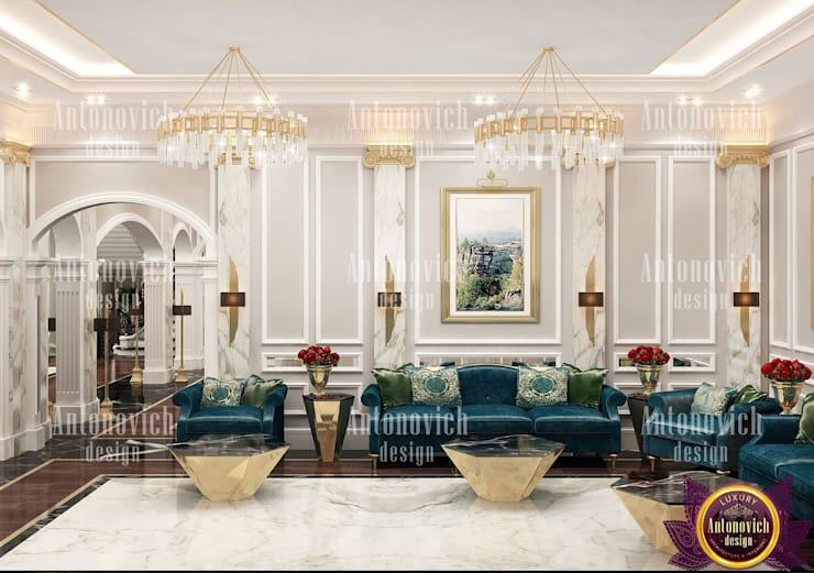 ​Best home interior design by Katrina Antonovich:  Living room by Luxury Antonovich Design