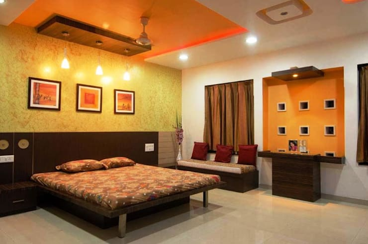 Sumit residence: modern Bedroom by B.N.Interiors