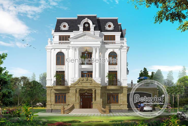Phối cảnh mẫu thiết kế biệt thự dinh thự đẹp 4 tầng Tân cổ điển (CĐT: Bà Lan - Hà Nội) KT17042:   by Công Ty CP Kiến Trúc và Xây Dựng Betaviet