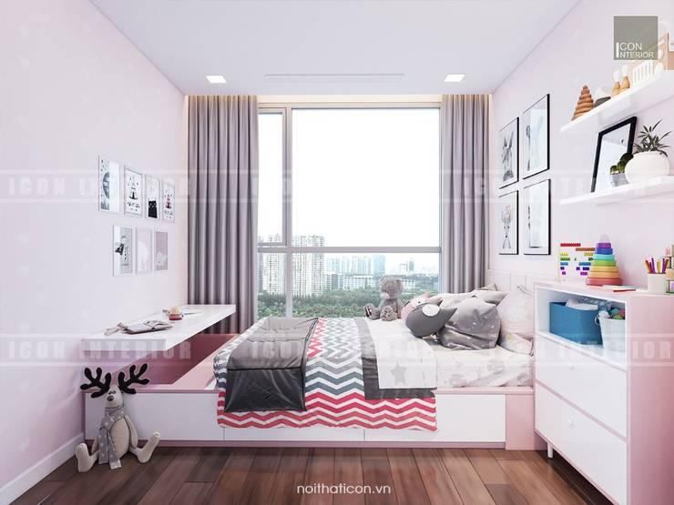 Phong cách hiện đại trong thiết kế nội thất căn hộ Vinhomes Central Park:  Phòng trẻ em by ICON INTERIOR