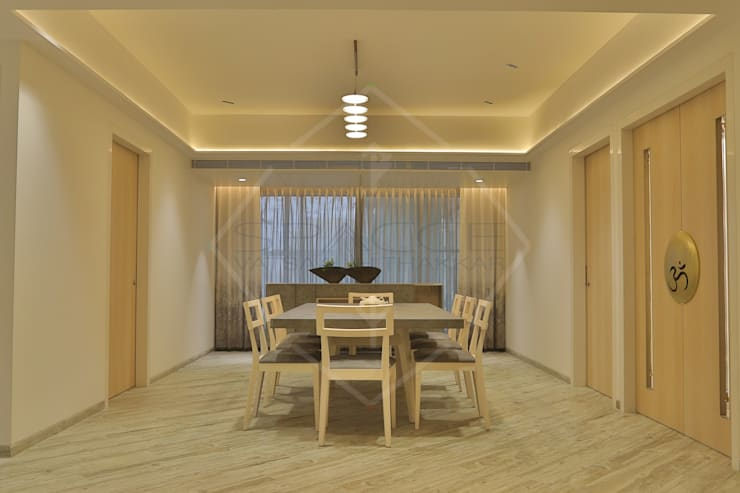 EXPRESSION:  Dining room by SPACCE INTERIORS