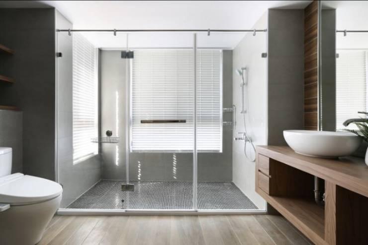 人文自然派的no.229舍:  浴室 by 喬克諾空間設計