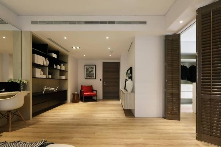 人文自然派的no.229舍:  臥室 by 喬克諾空間設計