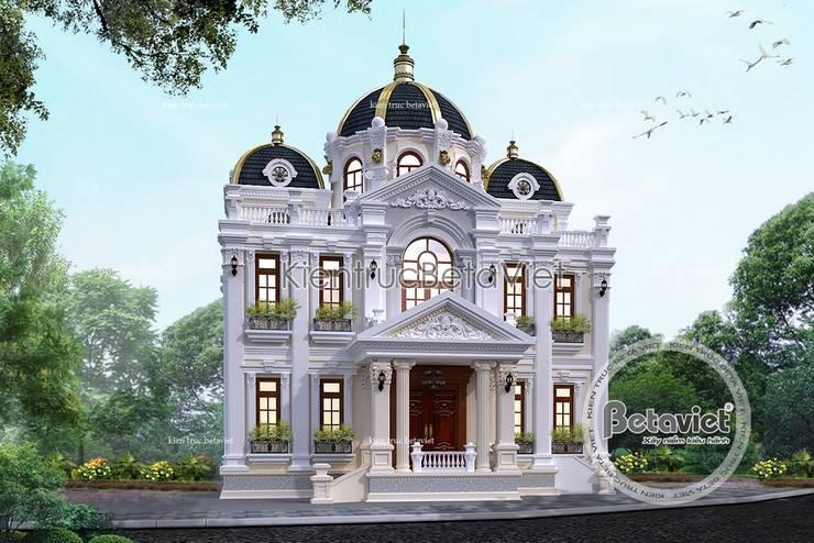 Phối cảnh mẫu thiết kế biệt thự đẹp 3 tầng Cổ điển kiểu Pháp tráng lệ (CĐT:Ông Phú - Hà Nội) KT16462:   by Công Ty CP Kiến Trúc và Xây Dựng Betaviet