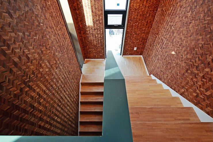 Escaleras de estilo  por 피앤이(P&E)건축사사무소
