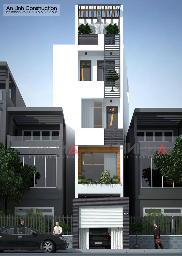 Mẫu thiết kế nhà phố 5 tầng quận 11:   by CÔNG TY THIẾT KẾ XÂY DỰNG AN LĨNH