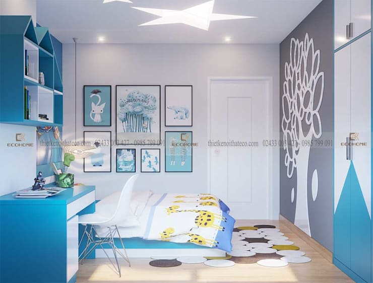 Thiết kế nội thất chung cư Five Star Kim Giang:   by Công Ty TNHH Xây Dựng & Nội Thất ECO Việt Nam