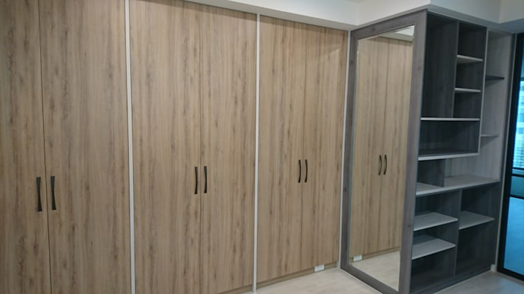 3F更衣室衣櫃:  更衣室 by 窩居 室內設計裝修