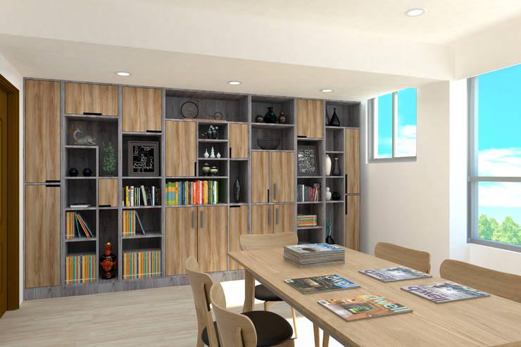 4F書房渲染圖:   by 窩居 室內設計裝修