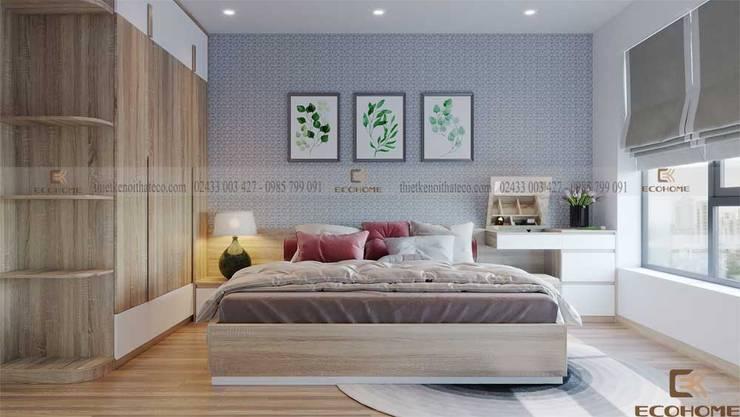 Phòng ngủ hiện đại chung cư HD Mon City:  Phòng ngủ by Công Ty TNHH Xây Dựng & Nội Thất ECO Việt Nam