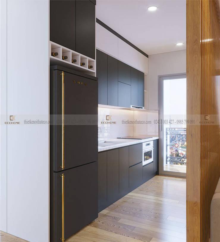 Thiết kế tủ bếp:  Nhà bếp by Công Ty TNHH Xây Dựng & Nội Thất ECO Việt Nam