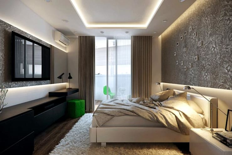 Interior: modern Bedroom by Workz Services LLP
