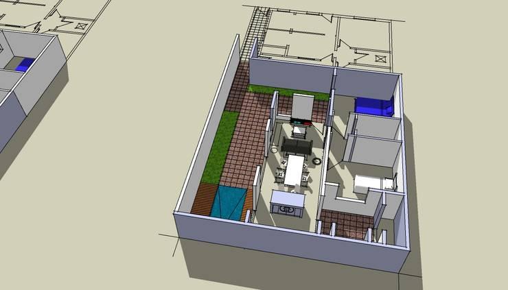 Volumetria: Casas unifamiliares de estilo  por I.S. ARQUITECTURA
