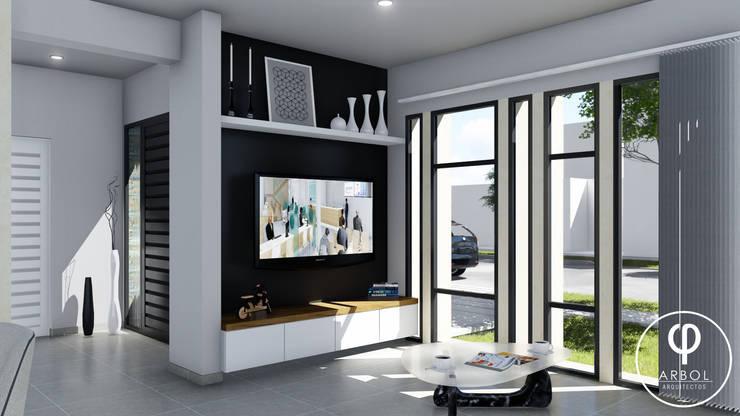 Livings de estilo  por ARBOL Arquitectos