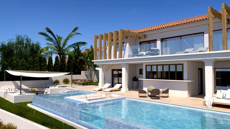Casas de estilo  por Pacheco & Asociados