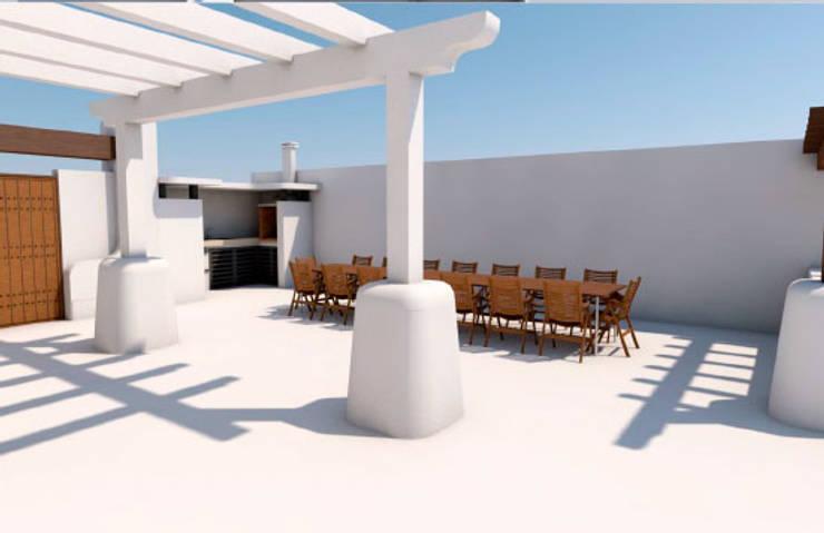 Terraza: Terrazas de estilo  de Pacheco & Asociados