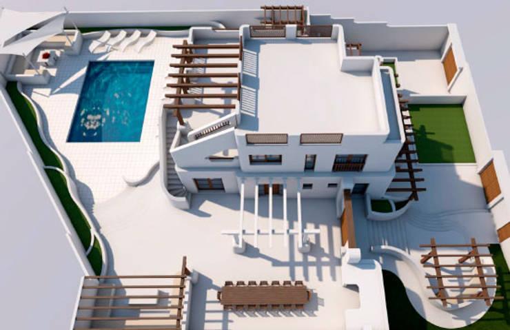 Exterior: Casas de estilo  de Pacheco & Asociados