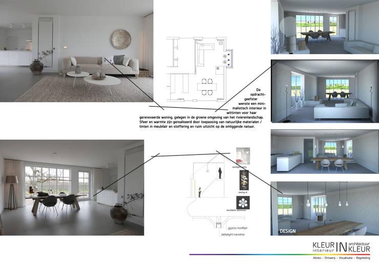 Minimalistisch interieur von kleurinkleur interieur architectuur