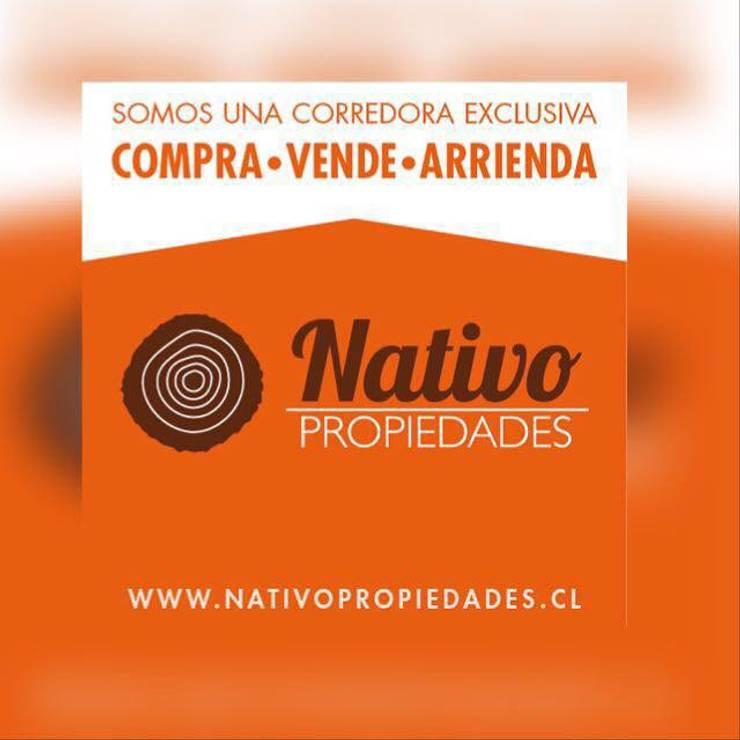 Corredora de Propiedades: Hogar de estilo  por Nativo Propiedades