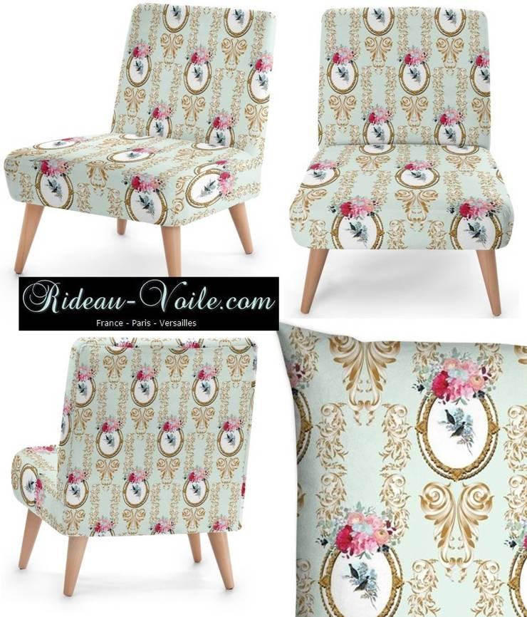 Tissu ameublement Toile de Jouy style Empire Rococo Baroque tapisserie: Maison de style  par Rideau-voile