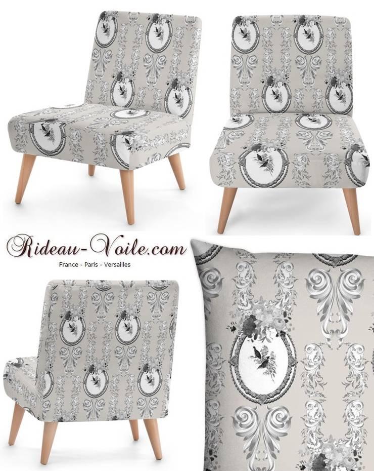 Tissu ameublement Toile de Jouy style Empire Rococo Baroque tapisserie: Chambre de style  par Rideau-voile