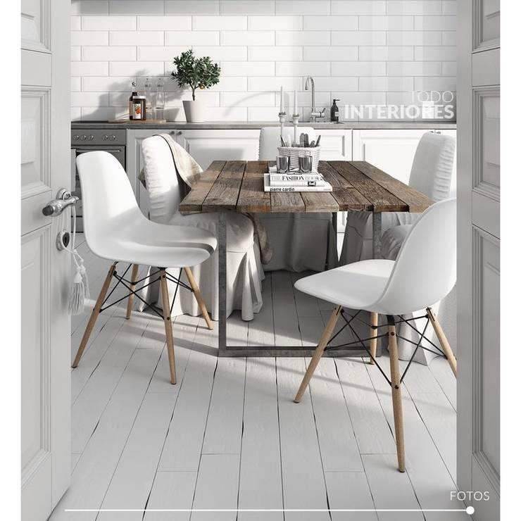 Sillas Eames: Comedores de estilo  por Todo Interiores,