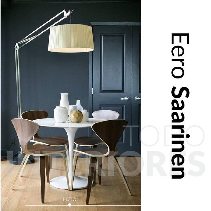Mesa Tulip Eero Saarinen: Comedores de estilo  por Todo Interiores,