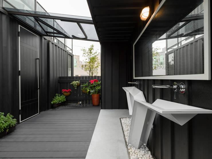 洗手間戶外空間:  餐廳 by 存果空間設計有限公司