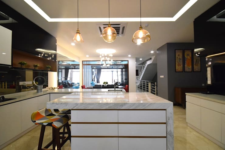 Kiara 1888: modern Kitchen by Hatch Interior Studio Sdn Bhd