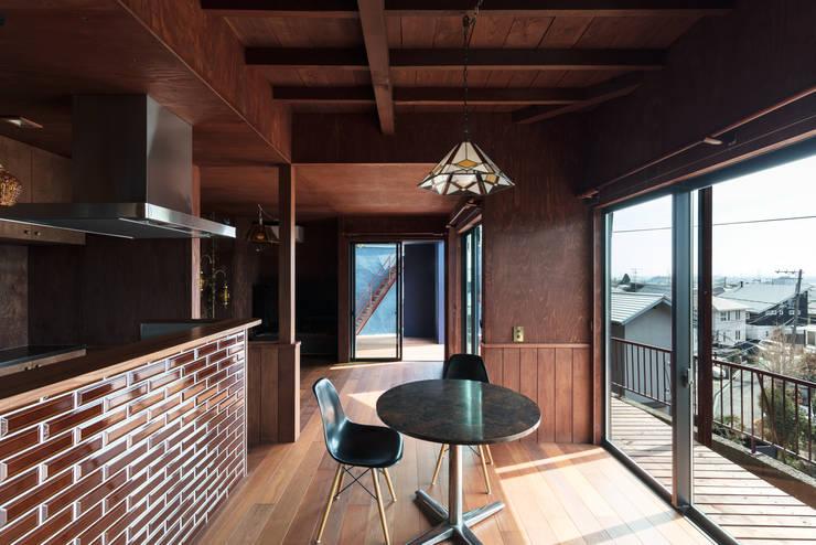 EARTH HOUSE: SQOOL一級建築士事務所が手掛けたシステムキッチンです。