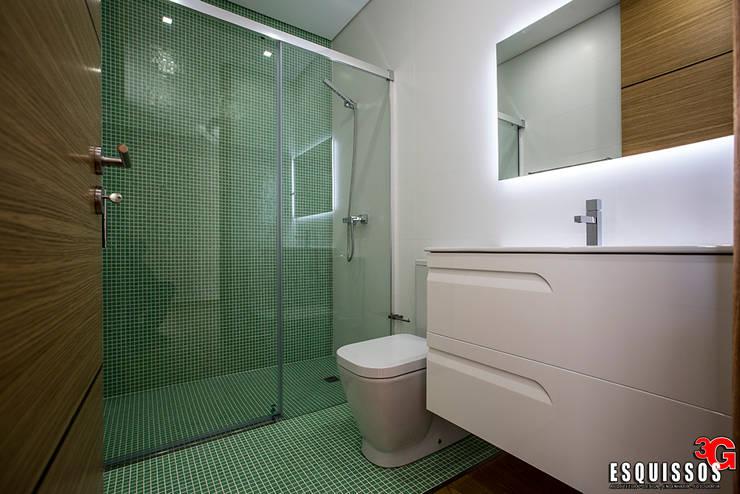Casa Monteiro: Casas de banho modernas por Esquissos 3G