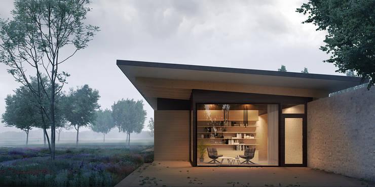 boskamer:  Villa door STAAG architecten, Landelijk Glas