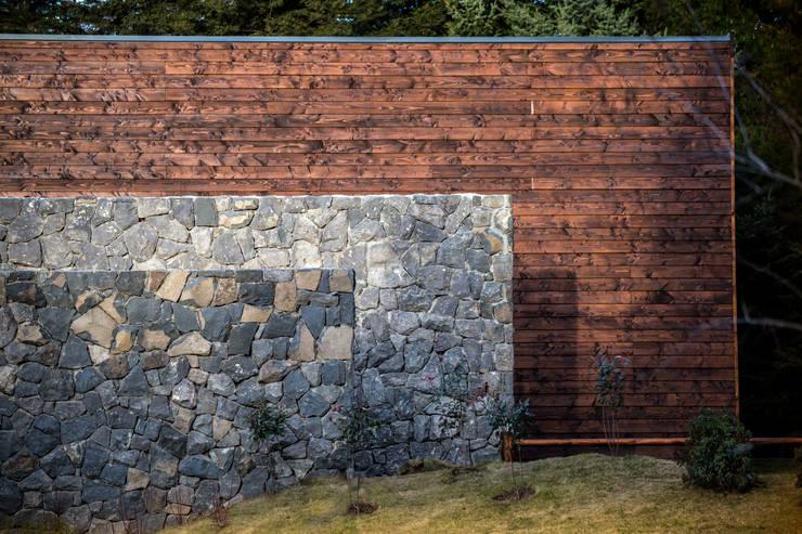 Cervecería Patagonia: detalles muros: Bares y Clubs de estilo  por Bórmida & Yanzón arquitectos,