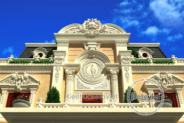 Phối cảnh mẫu thiết kế biệt thự 3 tầng Cổ điển hoành tráng (CĐT: Ông Toán - Thanh Hóa) BT16025:   by Công Ty CP Kiến Trúc và Xây Dựng Betaviet