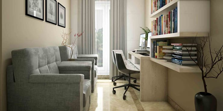 Home Interior Design Ideas:  Study/office by Monnaie Interiors Pvt Ltd,Asian