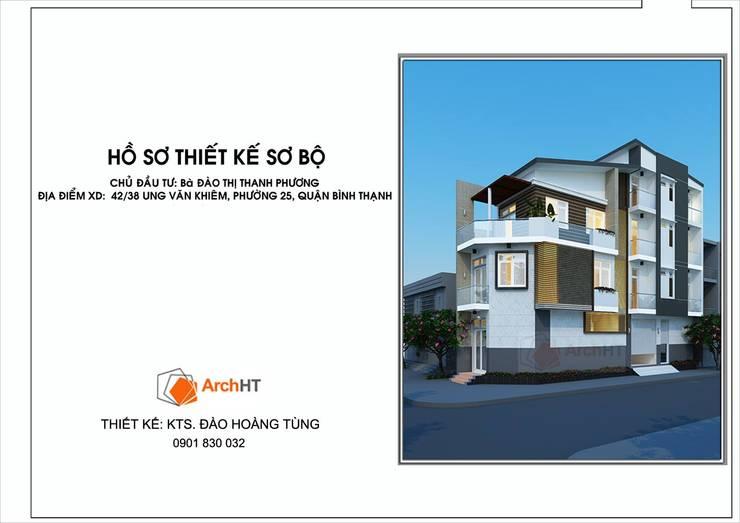Nhà Chị Phương - Bình Thạnh:   by D.H.T Architects