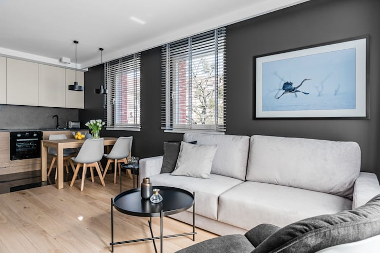 Living room by Anna Serafin Architektura Wnętrz