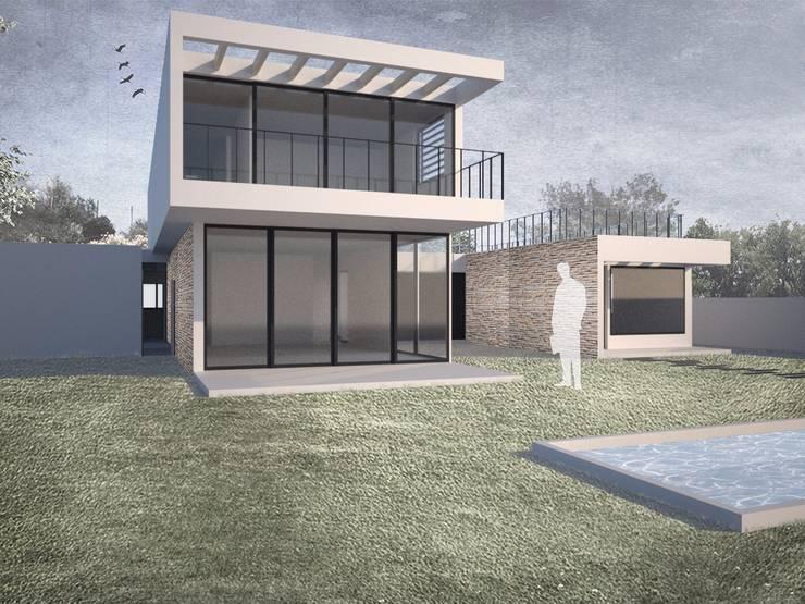 Casa Chamisero: Casas de estilo  por BMAA