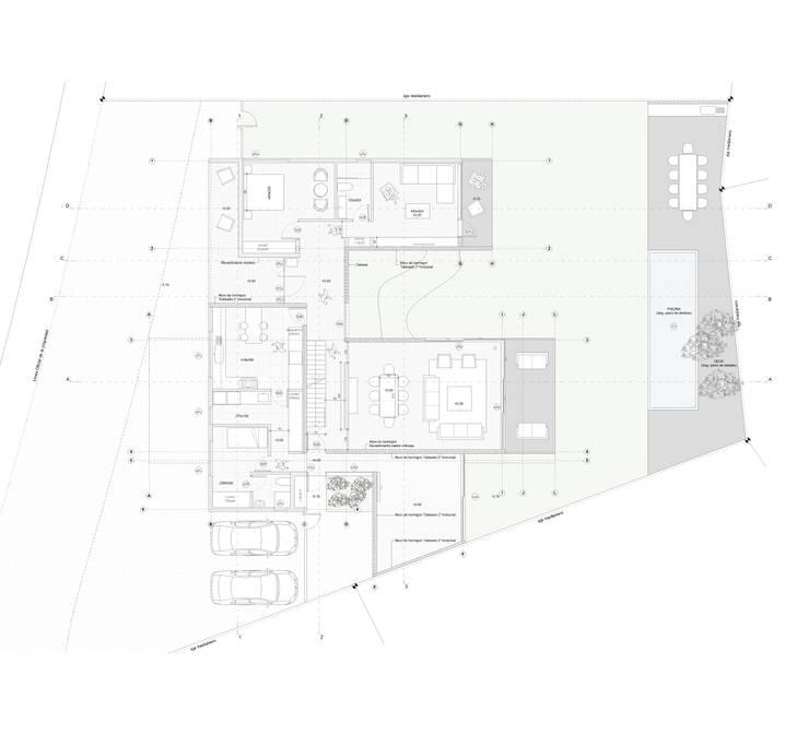Casa Chamisero: Livings de estilo  por BMAA