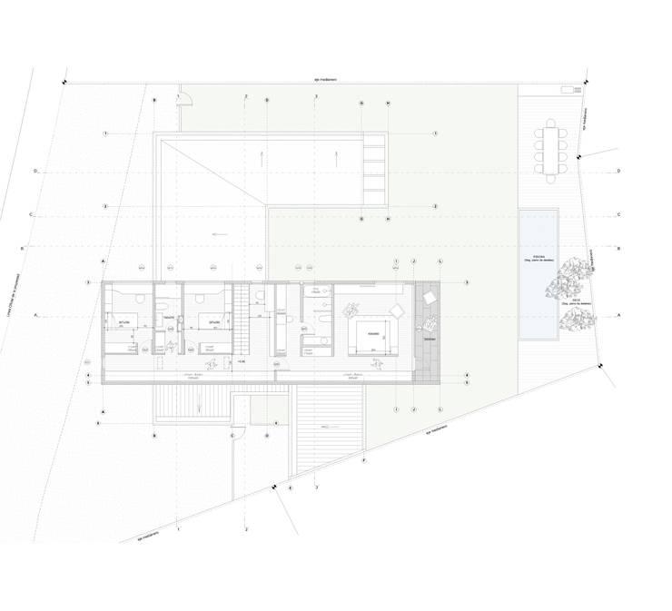 Casa Chamisero: Dormitorios de estilo  por BMAA
