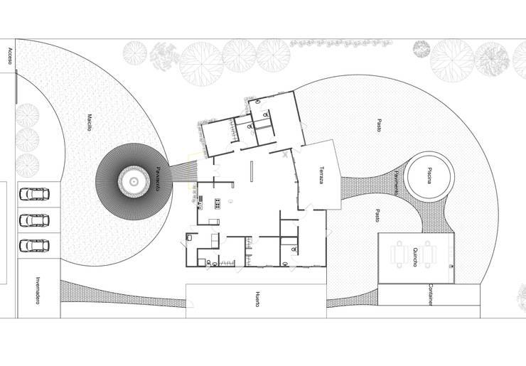 Exteriores Santo Domingo: Jardines zen de estilo  por ARquitectura