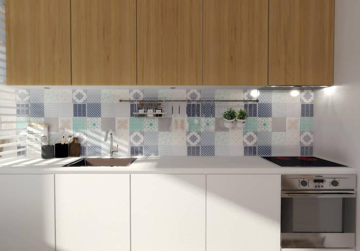 Casa do Zé e da Vanda: Cozinhas  por Homestories