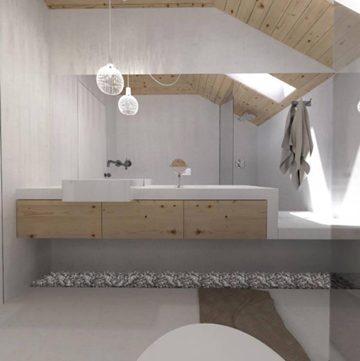 O sótão da família Oliveira: Casas de banho  por Homestories