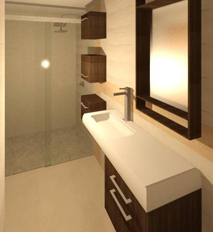 BAÑO PRINCIPAL: Baños de estilo  por ESTUDIO KULUMAK