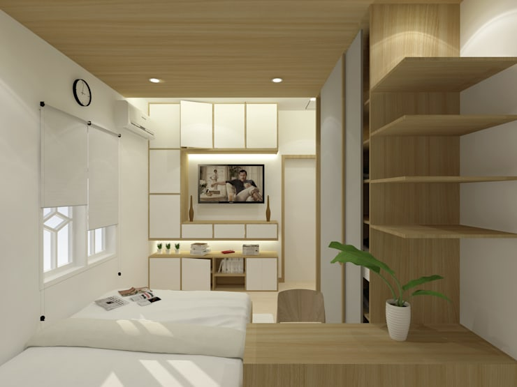 Master Bedroom:  Kamar Tidur by SEKALA Studio